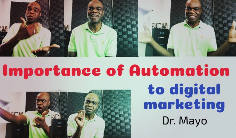 marketing automation Dr. Mayo Adegbuyi