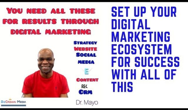 Digital marketing ecosystem Dr. Mayo Adegbuyi BizCrown Media